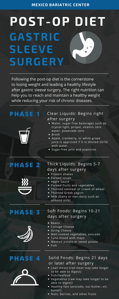 Gastric Sleeve Diet Infographic