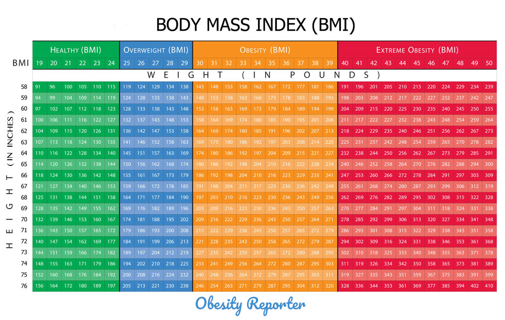 BMI Chart - What is my Body Mass Index BMI